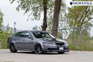 Rc10 Rohana 20x9 35 20x10 40 5x114 Black Wheels Fit Acura Tl Type s Staggered