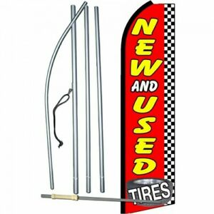 Complete 15 Tires New Used Kit Swooper Feather Flutter Banner Sign Flag