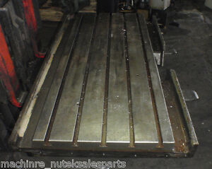 51 5 X 21 X 2 5 Steel Welding T slotted Table Cast Iron Layout Plate 5 Slots