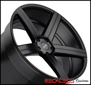20 Varro Vd05 Black Concave Staggered Wheels Rims Fits Dodge Challenger