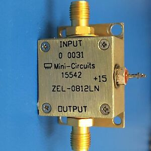 Mini circuits Zel 0812ln Coaxial Low Noise Amplifier 800 Mhz To 1200 Mhz
