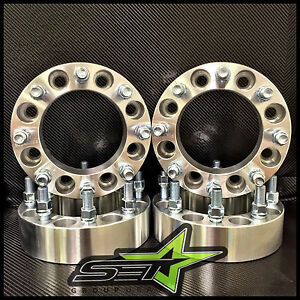 8x6 5 Wheel Spacers Adapters 1 5 Inch 9 16 Studs Dodge Ram Ford F 250 F 350
