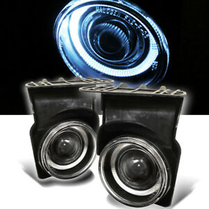 03 06 Gmc Sierra Halo Projector Fog Lights Lamps Left Right Pair 2003 2004 2006