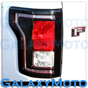 15 17 Ford F150 Truck Gloss Black Plated Taillight Tail Light Trim Bezel Cover