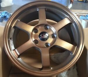 16x7 40 Rota Grid 5x114 3 Sport Bronze Wheel Civic si Prelude Accord Crz S2000