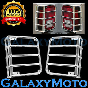 Chrome Stainless Euro Taillight Lamp Guard Cover Fit 07 17 Jeep Wrangler Jk