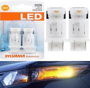 Sylvania Premium Led Light Bulb 3157 4157 4114 Amber Orange Drl Daytime Upgrade