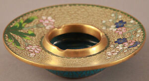 Antique Chinese Japanese Parcel Gilt Bronze Cloisonne Brush Washer Bowl 5 Pot