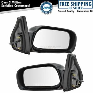 Manual Remote Side View Mirrors Left Right Pair Set For 03 08 Toyota Matrix