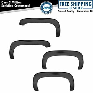 Fender Flare Kit Rugged Oe Style Smooth Black Set Of 4 For Ford F150 Pickup New