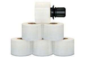 180 Rolls Extended Core Stretch Wrap W Black Spinner Handle 3 X 1000 90 Gauge