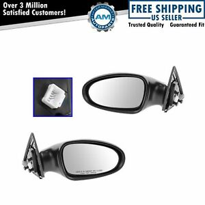 Power Side View Mirrors Left Right Pair Set For 02 04 Nissan Altima