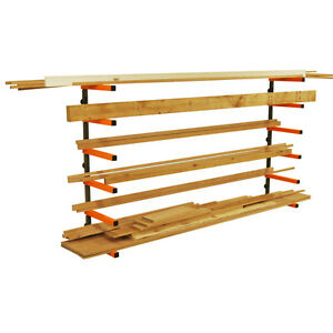 Portamate Pbr 001 Wood Lumber Material Wall Mount Storage Rack brand New