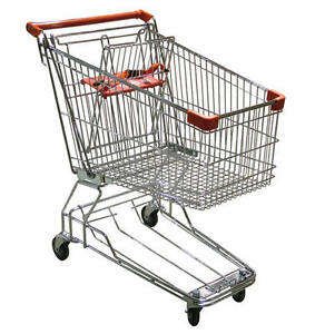 Lot Of 12 Omcan Model 10838 Heavy duty Medium size Shopping Carts New Warranty