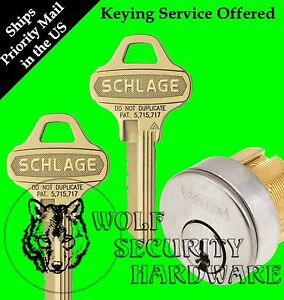 Qty 1 Schlage Mortise Cylinder 1 1 8 C123 Everest Keyway 626 1 Bitted