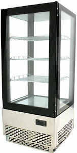 Omcan Rs cn 0078 17 X 15 X 39 h Countertop Glass Refrigerated Display Case New