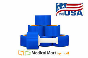3 X 1000 80 Ga Blue Color Hand Stretch Wrap Narrow Banding 648 Rolls