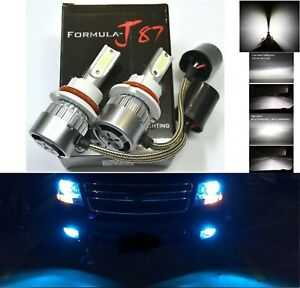 Led 80w 9004 Hb1 Blue 10000k Two Bulbs Head Light Replace Drl Lamp Off Road