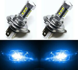 Led 80w Hs1 12v Blue 10000k Two Bulbs Head Light Replace Motorcycle Bike
