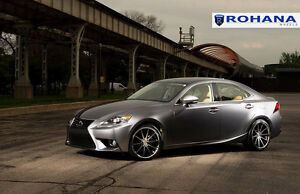 19x8 5 19x9 5 40 Rohana Rc10 5x114 Machine Wheel Fit Lexus Is250 2015 Staggered