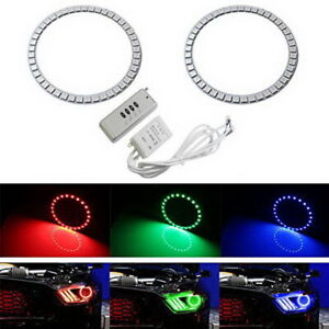 Rgb 7 color Led Angel Eye Halo Rings For 2015 up Mustang Projector Headlights