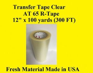 1 Roll 12 X 300 Ft Application Transfer Tape Vinyl Signs R Tape Clear At 65