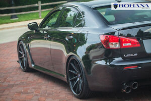 20x9 20x10 40 Rohana Rc10 5x114 Black Wheel Fit Lexus Is f 2008 5x4 5 Staggered