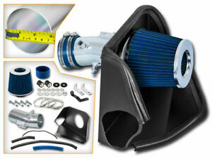 Bcp Blue For 2007 2012 Altima V6 3 5l Heat Shield Cold Air Intake Filter