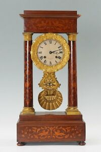 Monumental Beautiful Balthazard French Portico Clock Just Serviced