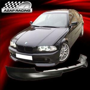 99 03 H Style Urethane Front Bumper Lip Spoiler Fits Bmw E46 3 series 2dr Coupe