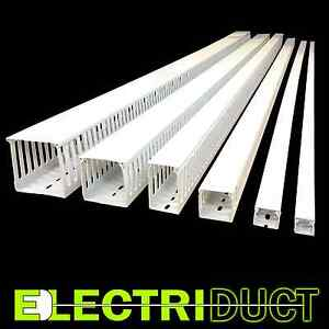 1 x1 Open Slot Wire Duct 6 Sticks Total Feet 39ft White Electriduct