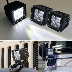 2 4d Projector Optic 20w Cree Led Cubic Pod Lights For Truck Jeep Atv 4wd 4x4