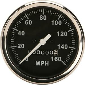 Speedway Speedometer Gauge Black Face 3 3 8 Mechanical