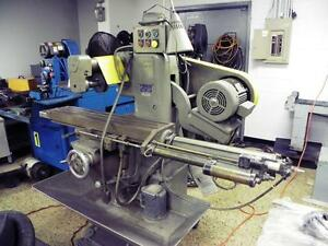 U s Burke D2 Horizontal Production Mill With Pneumatic Table Feed