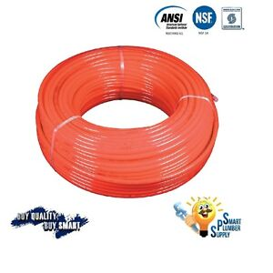 3 4 X 1000 Ft Red Pex Tubing For Water Supply With 25 Years Warranty