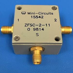 Mini circuits Zfsc 2 11 Coaxial Power Splitter combiner 10 Mhz To 2000 Mhz