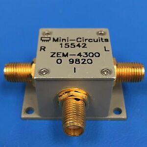Mini circuits Zem 4300 Coaxial Frequency Mixer 300 Mhz To 4300 Mhz