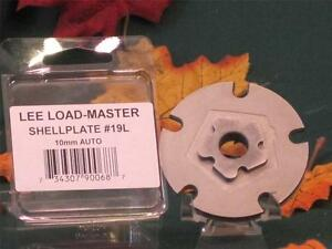90068 Lee Load Master LM Shell Plate #19L 10mm Auto & 41 A&E