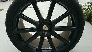 22 Porsche Cayenne Gts Oem Wheels Rims Tires Black Tires