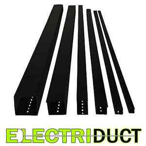 2 x2 Open Slot Wire Duct 6 Sticks Total Feet 39ft Black Electriduct
