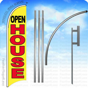 Open House Windless Swooper Flag 15 Kit Feather Banner Sign Yb