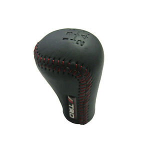 Toyota Trd Japan Leather Red Stitching 5 Speed Shift Knob Frs Ae86 Supra Celica
