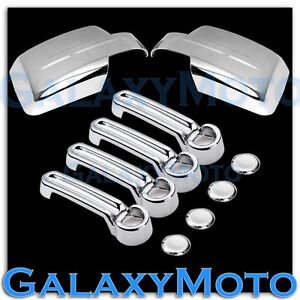Triple Chrome Plated Abs Mirror 4 Door Handle Cover For 2008 2012 Jeep Liberty
