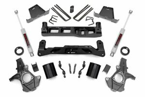 7 Lift Kit 14 17 Chevy Silverado Gmc Sierra 1500 2wd Cast Steel Cntrl Arm