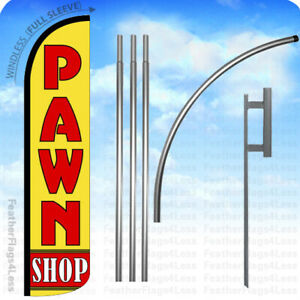 Pawn Shop Windless Swooper Flag 15 Kit Feather Banner Sign Yz