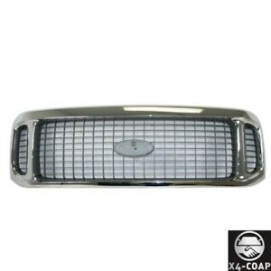 New Chrome Front Grille For Ford Excursion Fo1200448 1c7z8200aaa