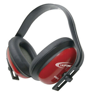 Califone Hs40 26db Hearing Safe Hearing Protector Headphones For Kids red