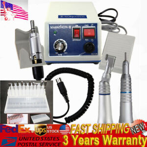 Dental Lab Marathon 35k Rpm Handpiece Electric Micro Motor N3 10x Burs 2 35mm Us