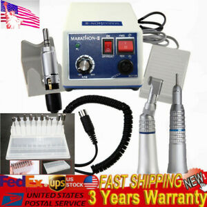 Dental Lab Marathon 35k Rpm Micro Motor N3 2 Handpiece 10 Drills Burs 2 35mm