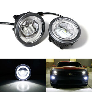 20w Cree Led Halo Ring Daytime Running Lights fog Lamps For 10 13 Chevy Camaro
